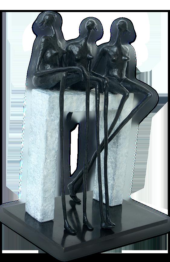 Inke Zeegelaar bronze sculptures